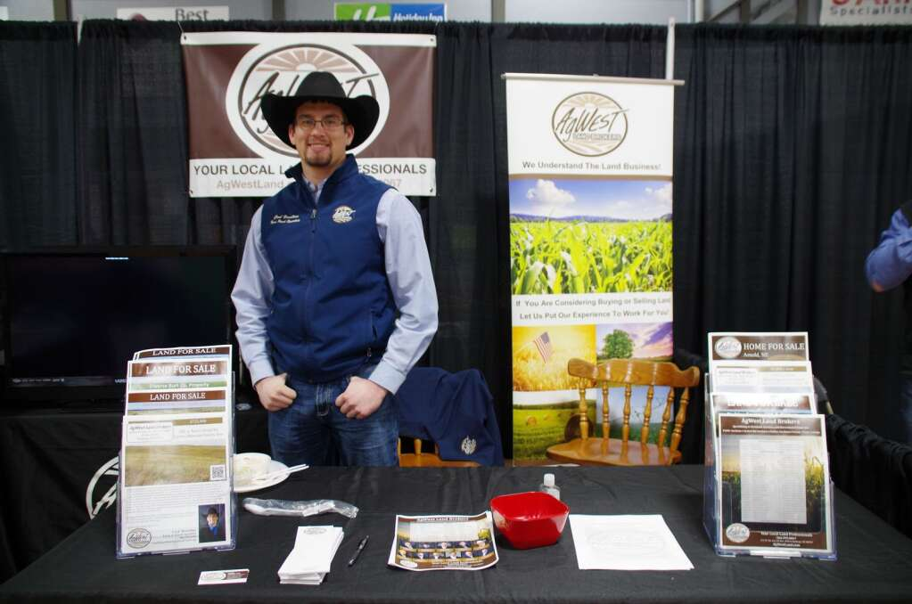 Cord Hesseltine, Arnold, a Thedford High School alum, has been part of Ag-West Reality for three years but this was his first Expo he has been to.