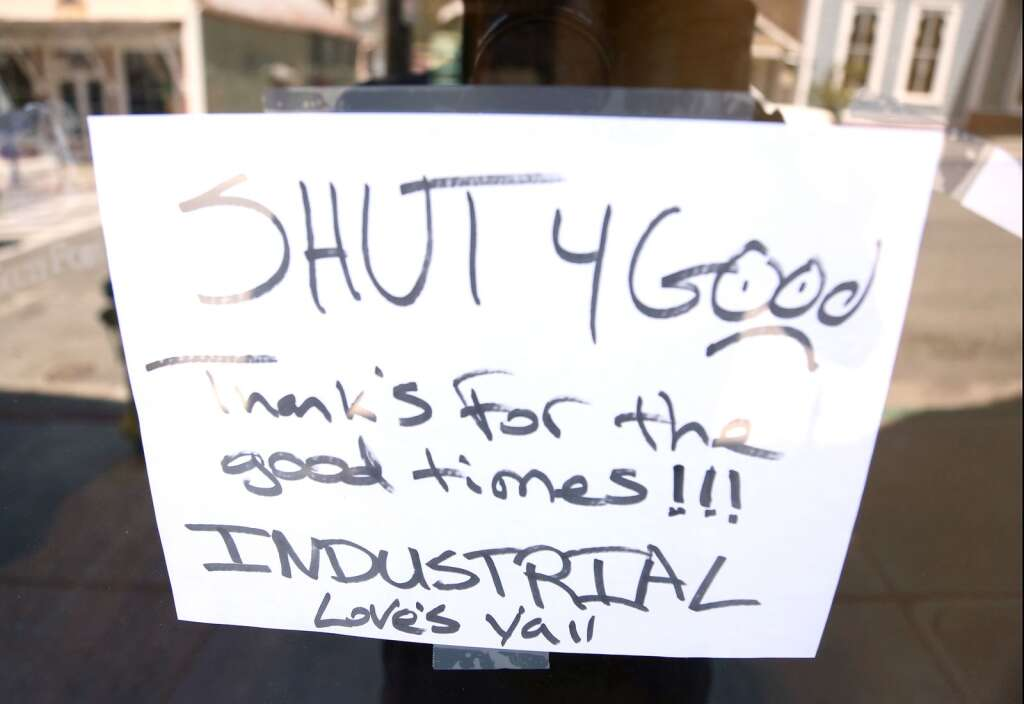 Industrial off of Broad Street in downtown Nevada City is just one western Nevada County business that has closed its doors for good during the COVID-19 shutdowns. | Photo: Elias Funez