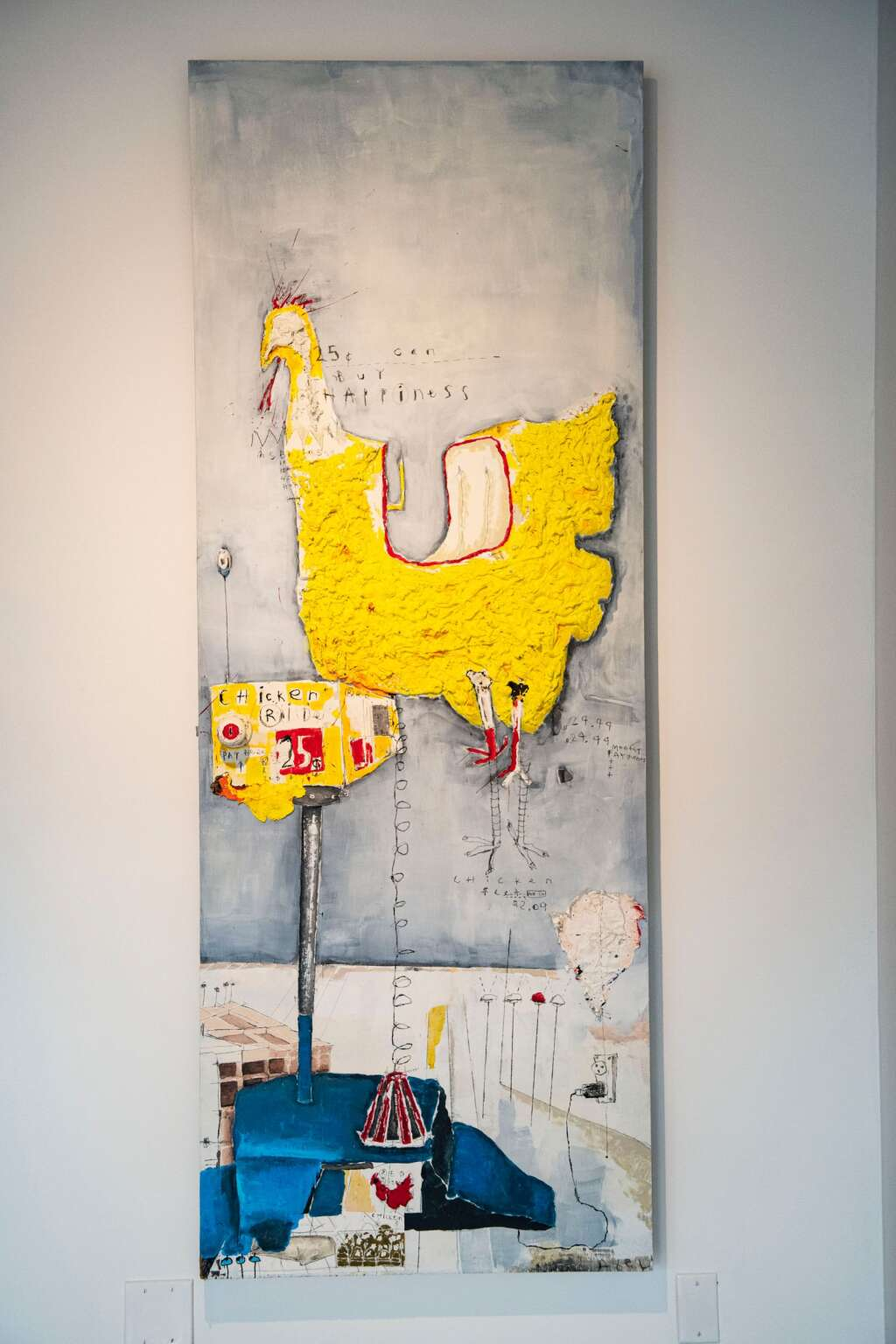 A piece of art by Axel Livingston for his first show at Gonzo Gallery in Aspen on Tuesday, April 27, 2021. (Kelsey Brunner/The Aspen Times)