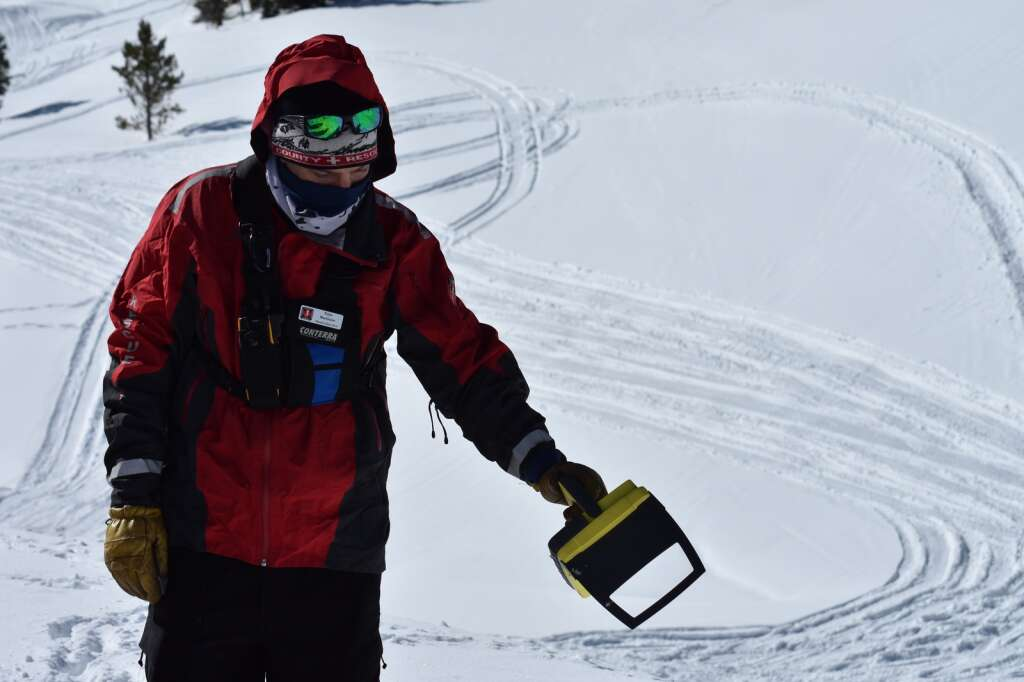 A rescuer shows off a Recco system used to search for individuals lost in an avalanche. | Photo by Sawyer D'Argonne / sdargonne@summitdaily.com