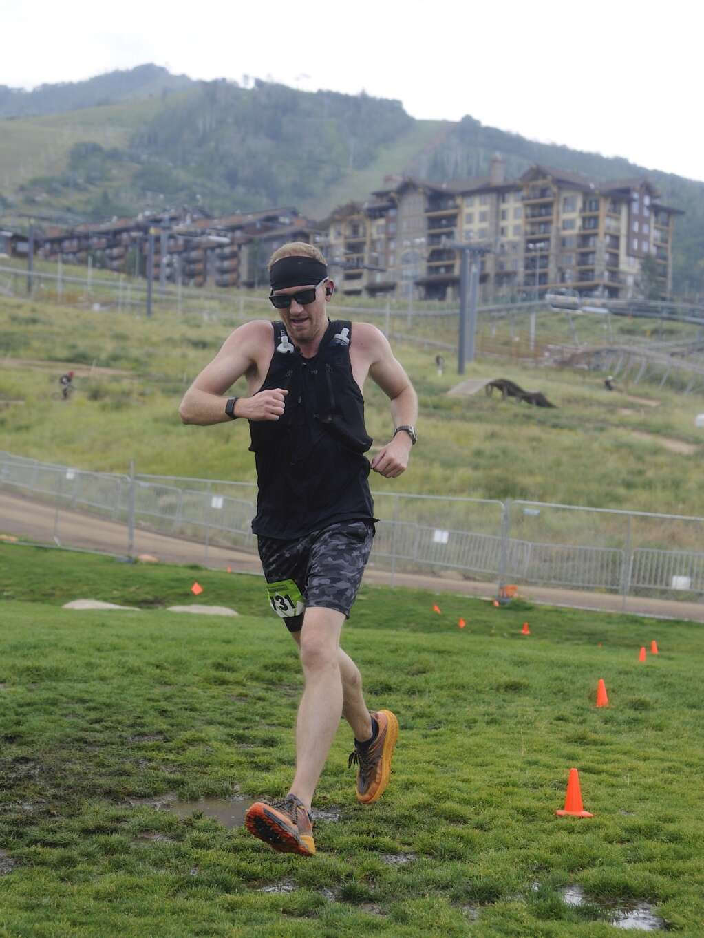 Brad Dunn finishes the 50K race at the Continental Divide Trail Run on Saturday morning. (Photo by Shelby Reardon)