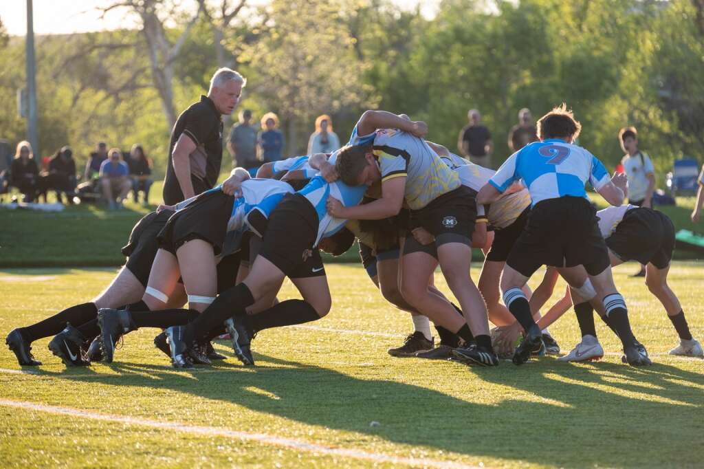 The Summit boys rugby team plays in junior varsity action versus Monarch in Louisville on Thursday, May 27.   Photo by Stefan de Vogel