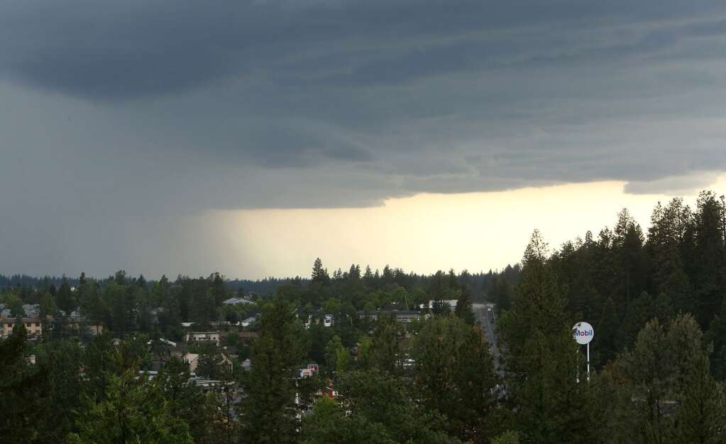 Thunderstorm clouds make their way towards Grass Valley May 30 when .97 inch of rain fell in downtown over a 24 hour period. | Photo: Elias Funez