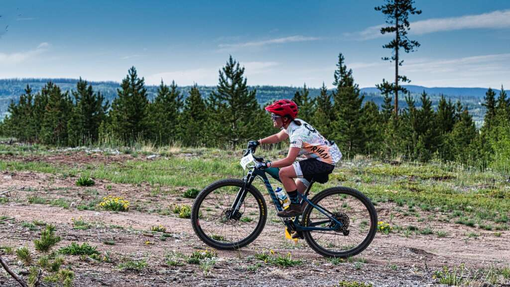 Racers ride singletrack at the Frisco Peninsula Recreation Area at the Frisco Roundup, the first Summit Mountain Challenge race of the summer, on Wednesday in Frisco.   Photo by Joel Wexler / Rocky Mountain.Photography