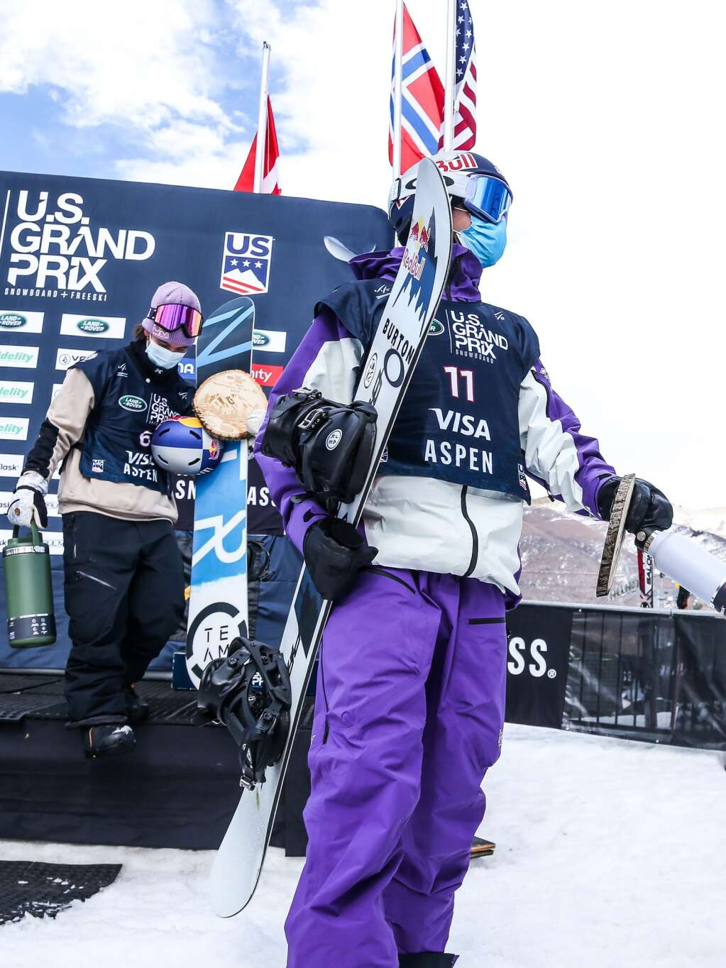 Canada's Mark McMorris walks off the podium after the men's snowboard slopestyle finals at the U.S. Grand Prix and World Cup on Saturday, March 20, 2021, at Buttermilk Ski Area in Aspen. Photo by Austin Colbert/The Aspen Times.