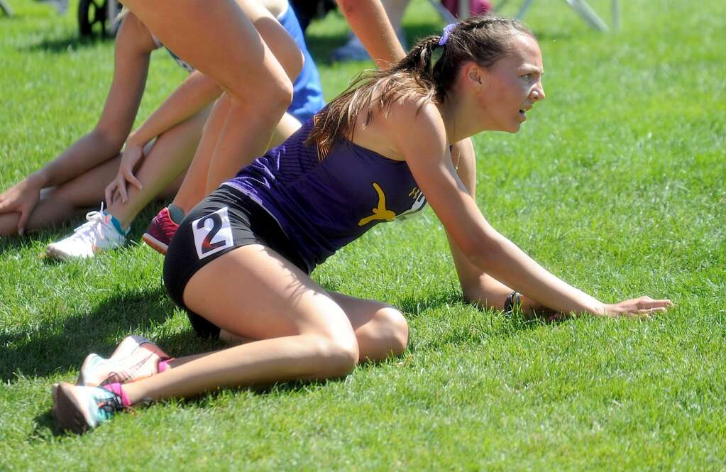 Basalt High School sophomore Katelyn Maley catches her breath after competing in the Class 3A girls' 3,200-meter run on Friday, June 25, 2021, at the state championship meet in Lakewood. Maley finished second. Photo by Shelby Reardon/Steamboat Pilot & Today.