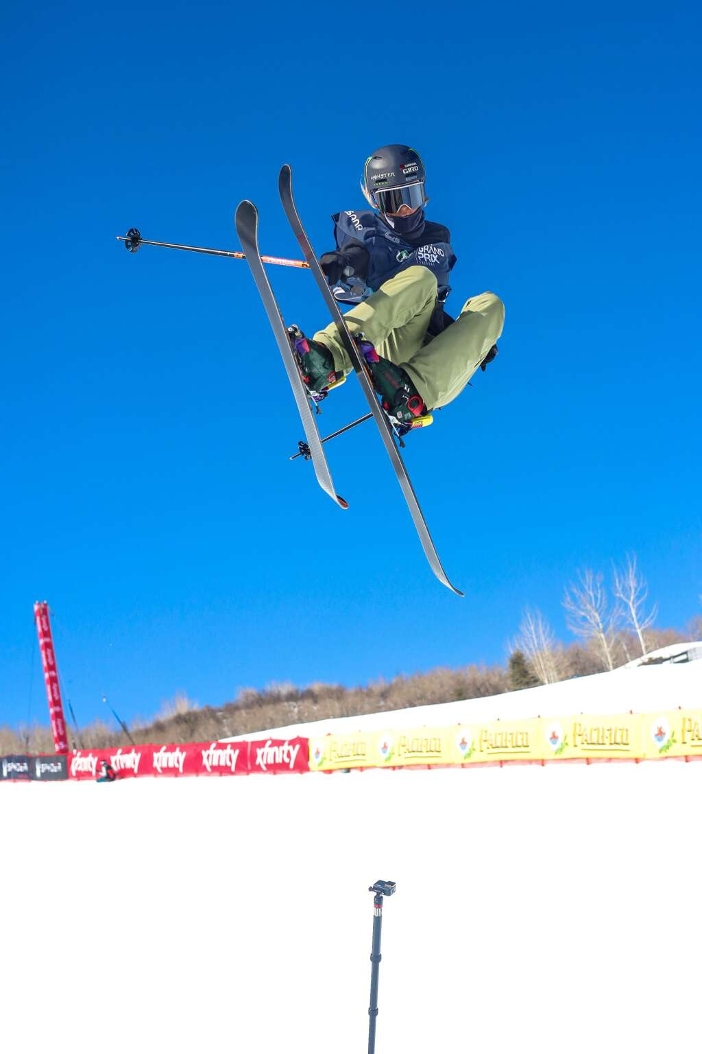American Brita Sigourney competes in the women's freeski halfpipe qualifier of the Land Rover U.S. Grand Prix and World Cup on Friday, March 19, 2021, at Buttermilk Ski Area in Aspen. Photo by Austin Colbert/The Aspen Times.