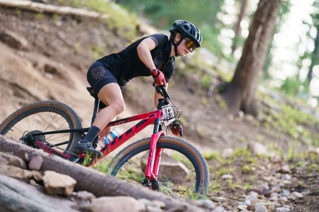 Summit County local Alisha Scheifley rides to a win in the pro-open women's class at Wednesday's Copper Mountain Melee. | Photo by John Hanson