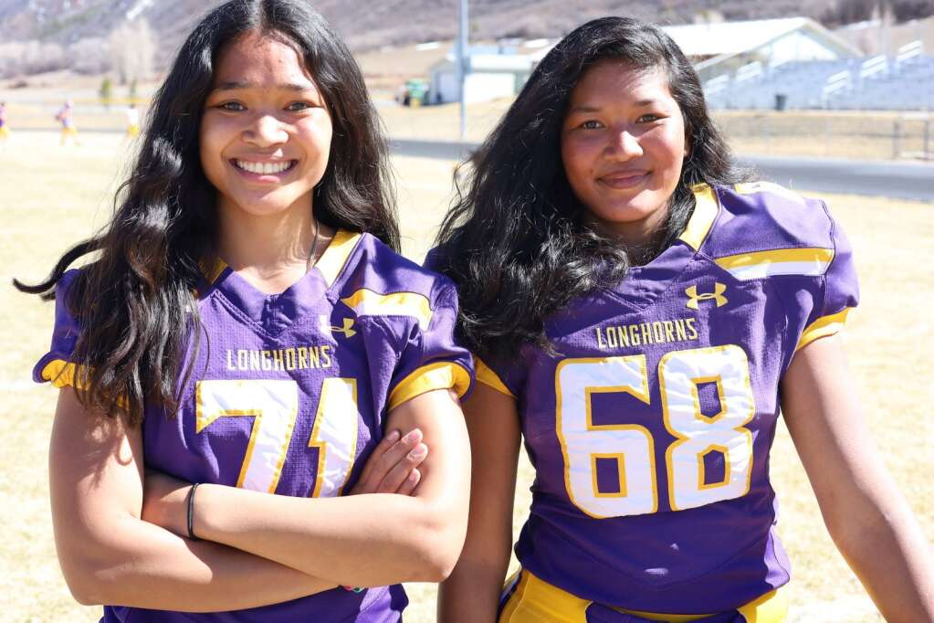 Twins Katie, left, and Chandra Bohannan have had quite the storied career at Basalt High School. The seniors were a key part of a breakthrough girls basketball team this winter and Chandra is in her fourth season on the football team, while Katie remains on as the team manager. Photo by Austin Colbert/The Aspen Times.
