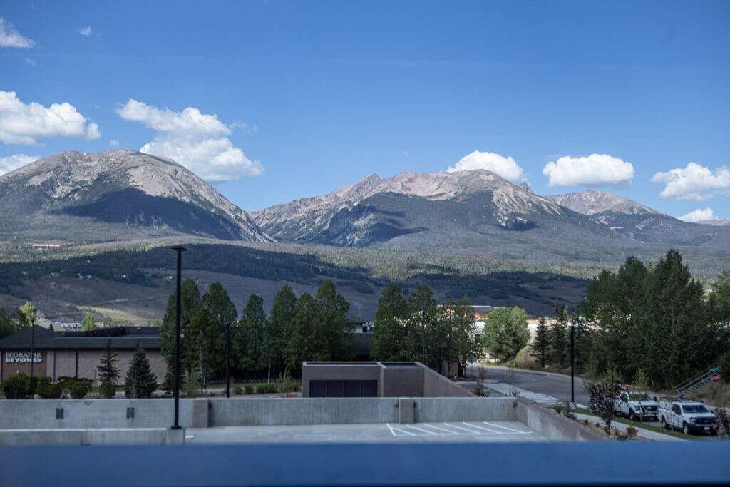 The view from the parking garage at Vail Health's new medical center in Dillon is shown on Friday, August 27, 2021.   Photo by Michael Yearout / Michael Yearout Photography