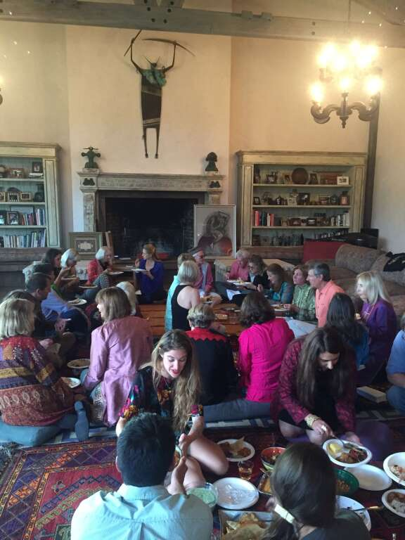 An Afghan dinner as part of a fundraiser for Action for Afghan Women in Aspen.