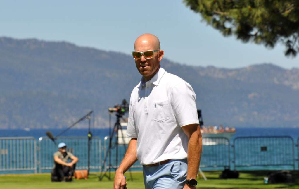San Francisco 49ers placekicker Robby Gould on the 18th hole.