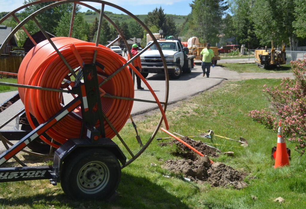 Broadband service infrastructure work continues west of Steamboat
