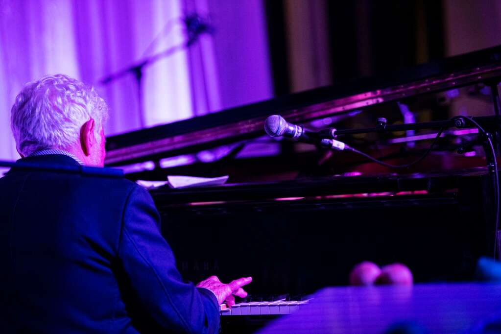 Monty Alexander wows the audience alongside his two other band members during a performance on the rooftop of the Aspen Art Museum during the JAS June Experience in downtown Aspen on Friday, June 25, 2021. (Kelsey Brunner/The Aspen Times)