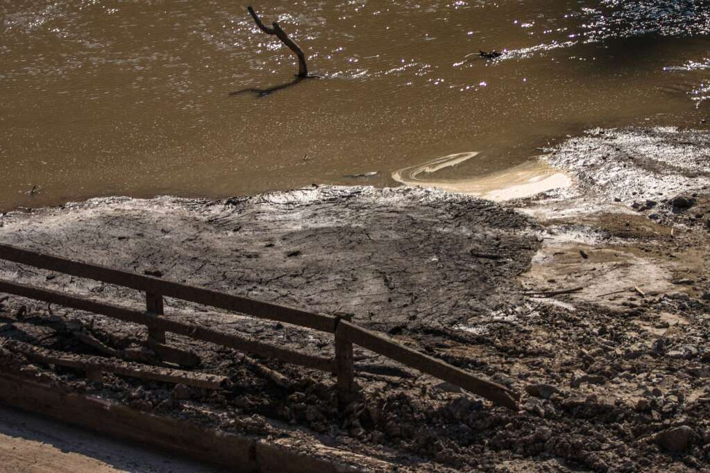 Debris has changed the Colorado River after rock and mudslides came down July 29 in Glenwood Canyon.