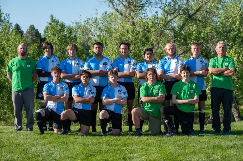 The Summit boys rugby team poses for a team photo in Louisville on Thursday, May 27.   Photo by Stefan de Vogel