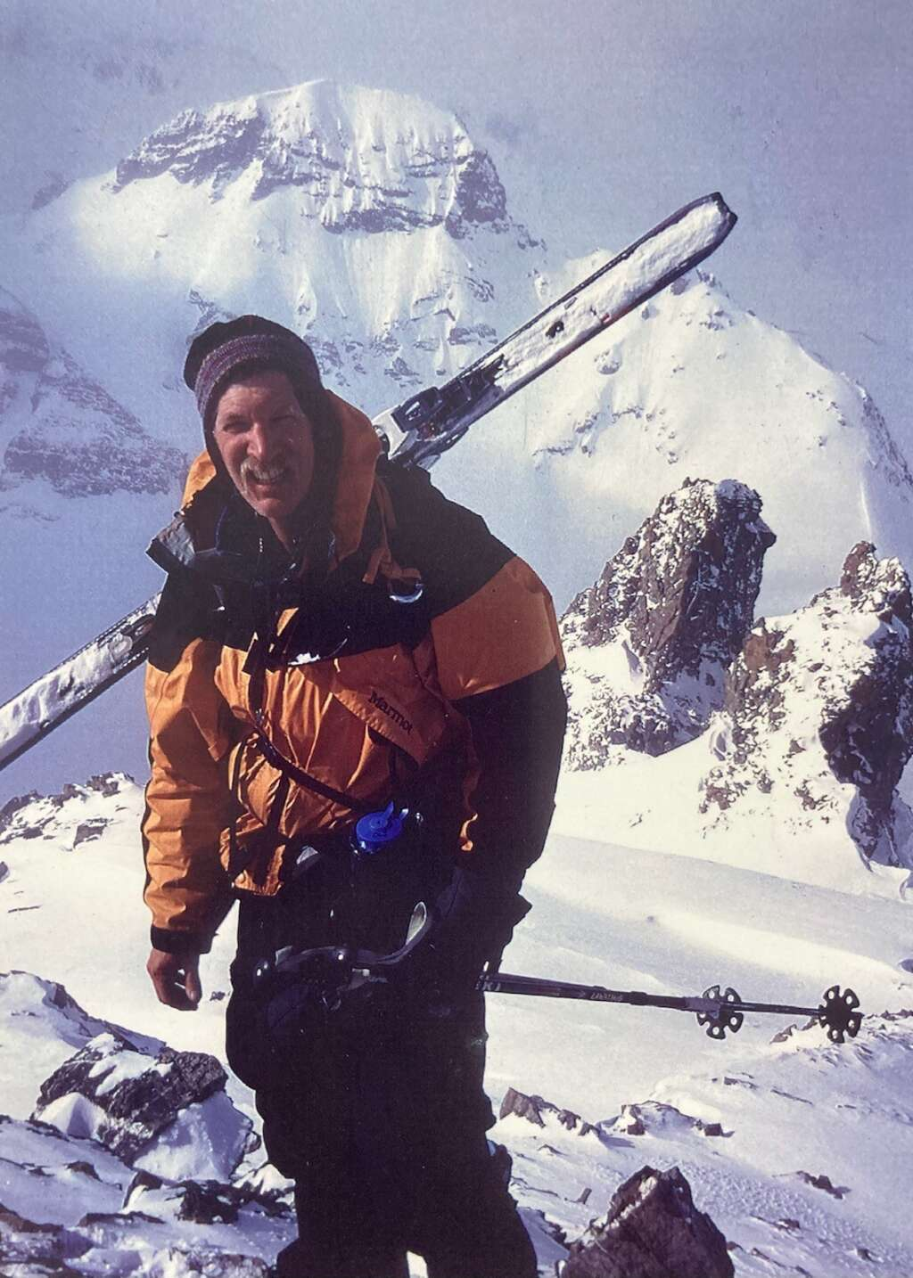 David Jefferson does the Haute Route in the Alps in 1997. The backcountry trip is responsible for influencing David and his friends to create the Summit Huts Association. | Photo from Lauren Jefferson