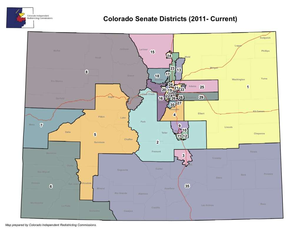 The way Colorado's Senate Districts are currently laid out.