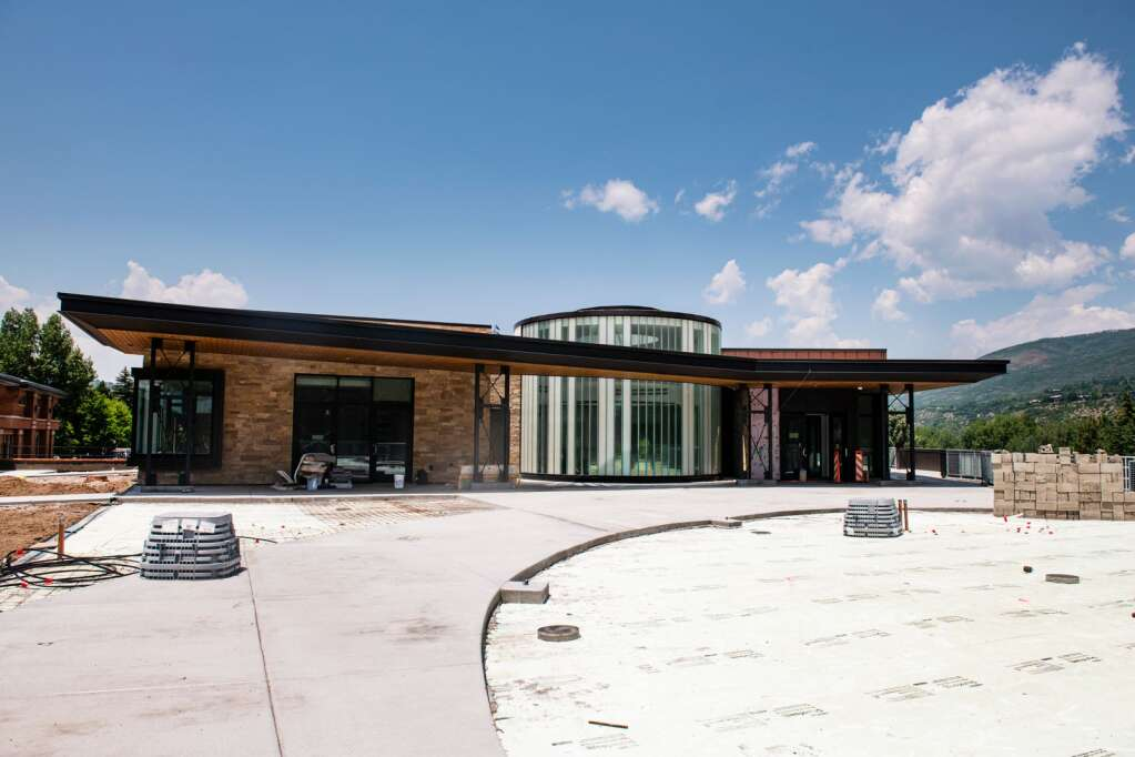 There are two entrances to the new Town Hall building, making it more accessible to the public.  (Kelsey Brunner / The Aspen Times)