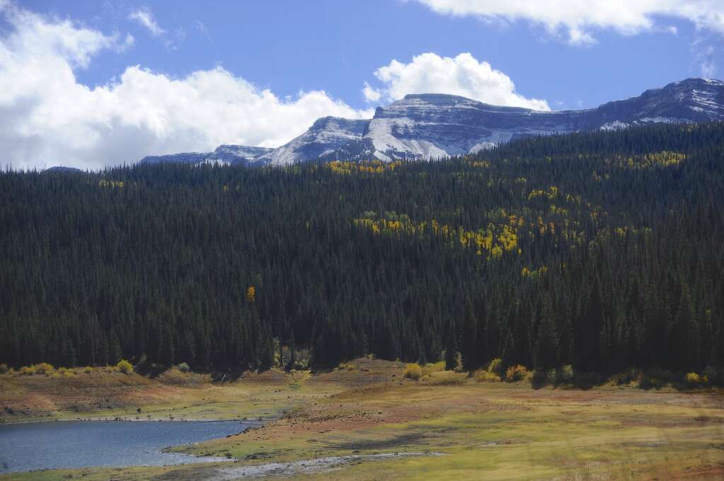 The Flat Tops Wilderness got a dusting of snow on Monday.   Shelby Reardon/Steamboat Pilot