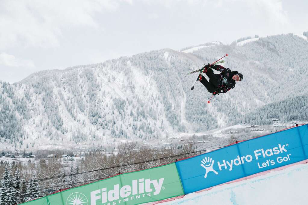 Alex Ferreira airs out of the half pipe during the men's freeski qualifications during the FIS World Championships at Buttermilk in Aspen on Wednesday, March 10, 2021. Ferreira finished ninth and will compete in the finals on Friday. (Tamara Susa/Aspen Snowmass)