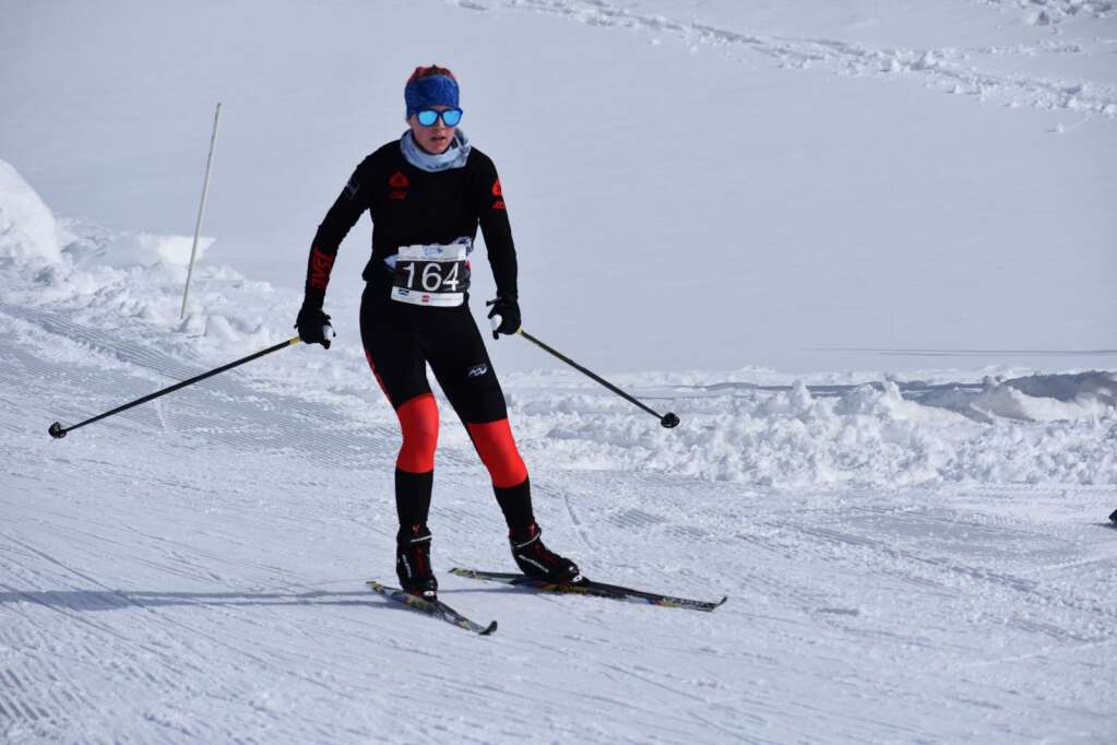 Aspen's Kendall Clark competes in the Nordic state championships on Saturday, March 6, 2021, at the Gold Run Nordic Center in Breckenridge. Courtesy photo.