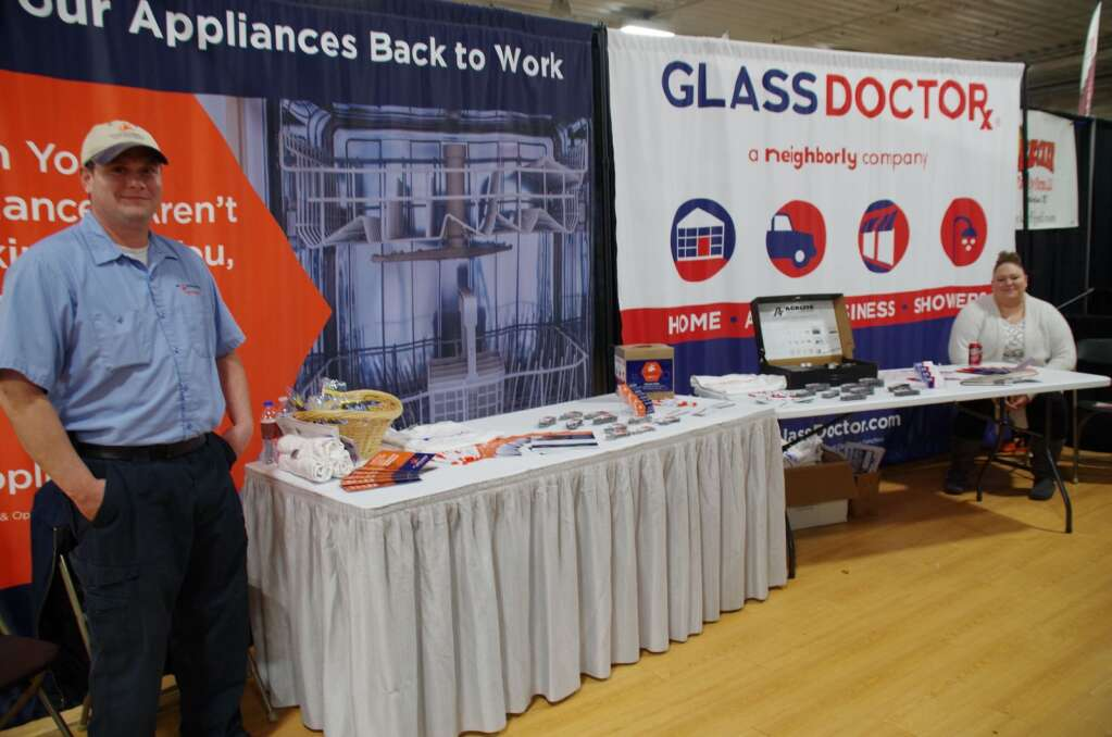 These two businesses are located next to each other in town, so it was fitting that James Arrollo, with Mr. Appliance and Leisha Hughey from the Glass Docto's booths sit side by side at the Expo. Photos by Terri Licking