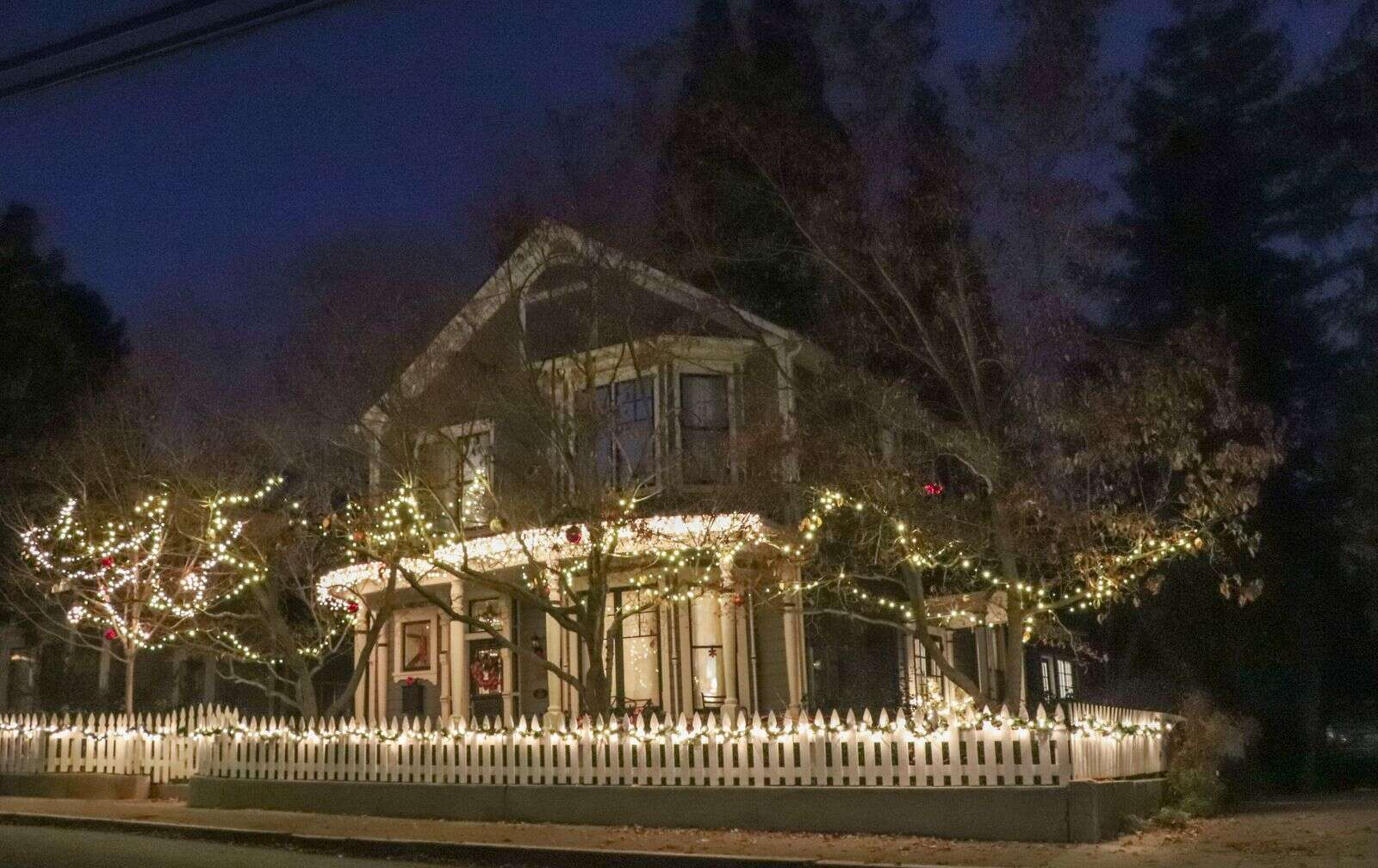 Local photographers joined Northern California Scenics, Kial James, Friday night with masks and social distancing for a photo walk around Nevada City in search of Christmas decorations. | Submitted by Sandra Boyd