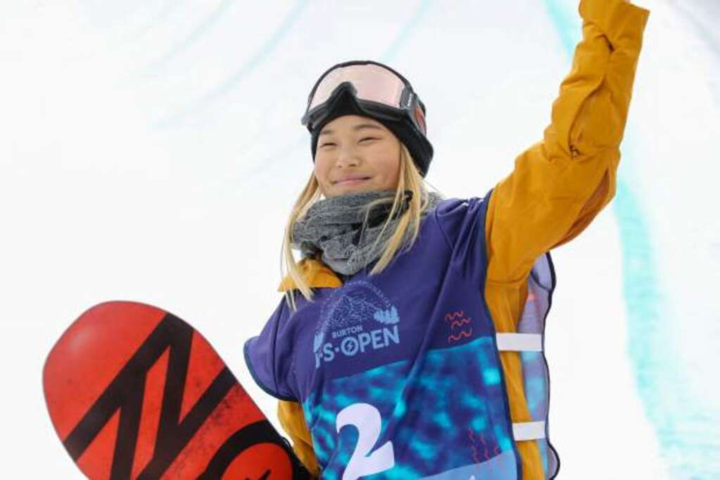 American halfpipe snowboarder Chloe Kim celebrates another Burton U.S. Open Snowboarding Championship win on Saturday, March 10, in Vail. Kim also won last year and the year before.