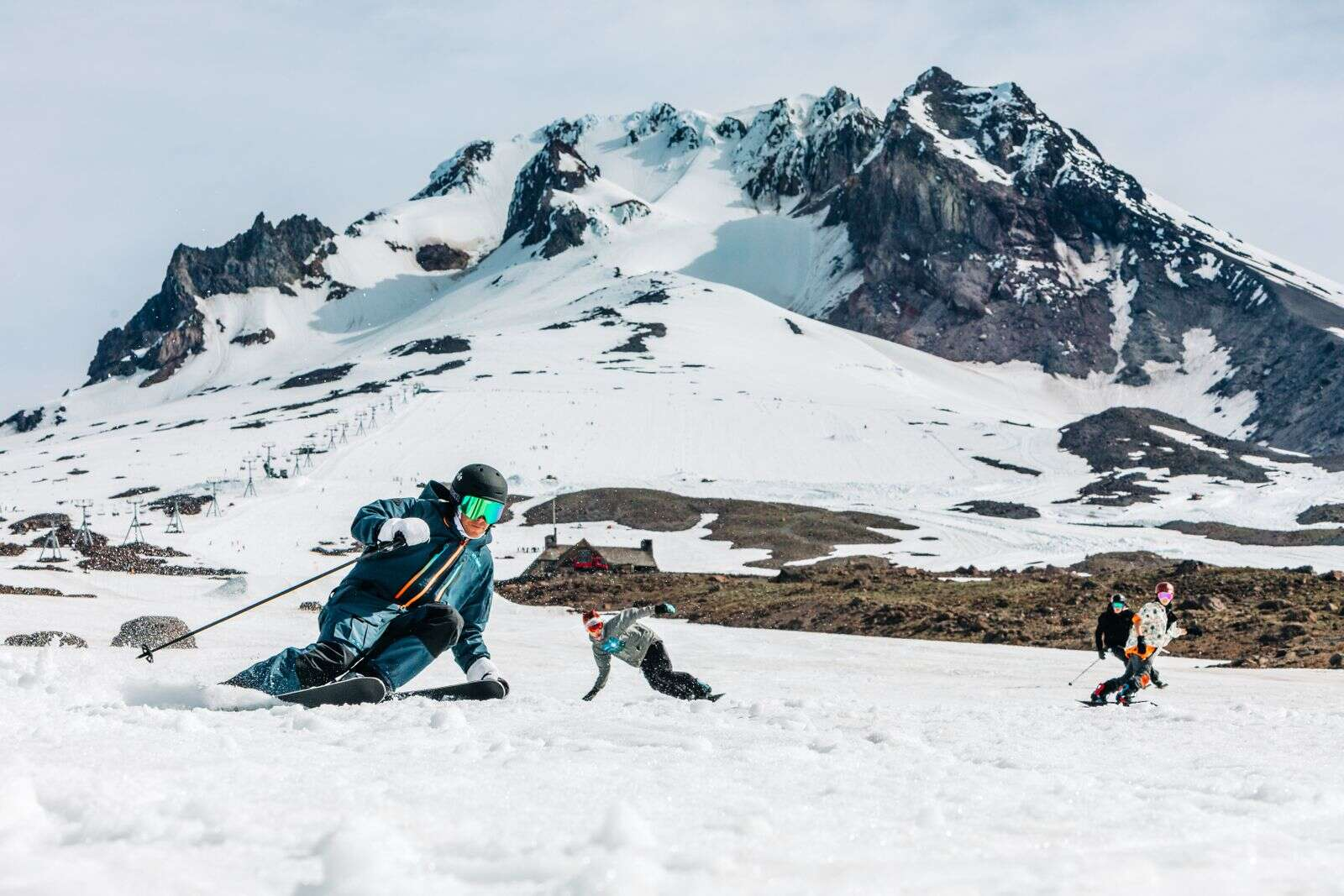 US alpine skier and Olympic gold medalist Bode Miller tests out the new 2020-21 Crosson skis on Mount Hood, Oregon.