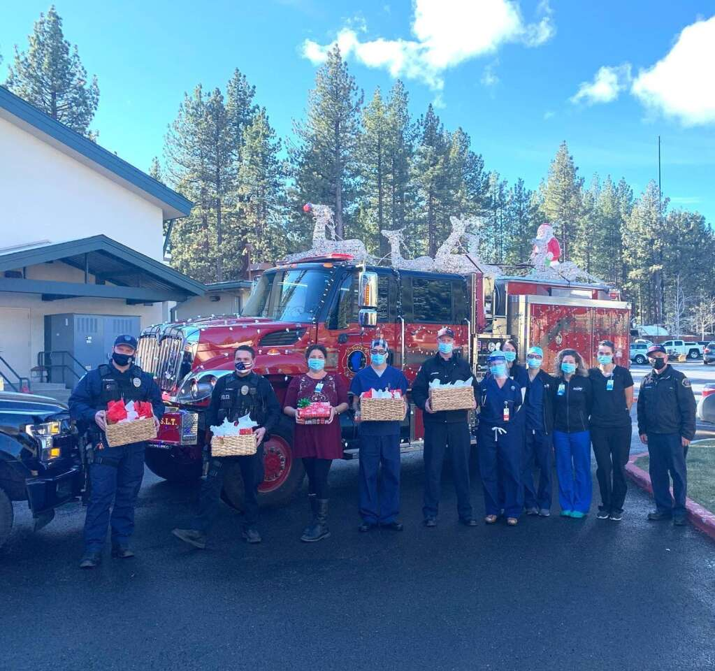 The police and fire associations gave back to Barton Health employees.