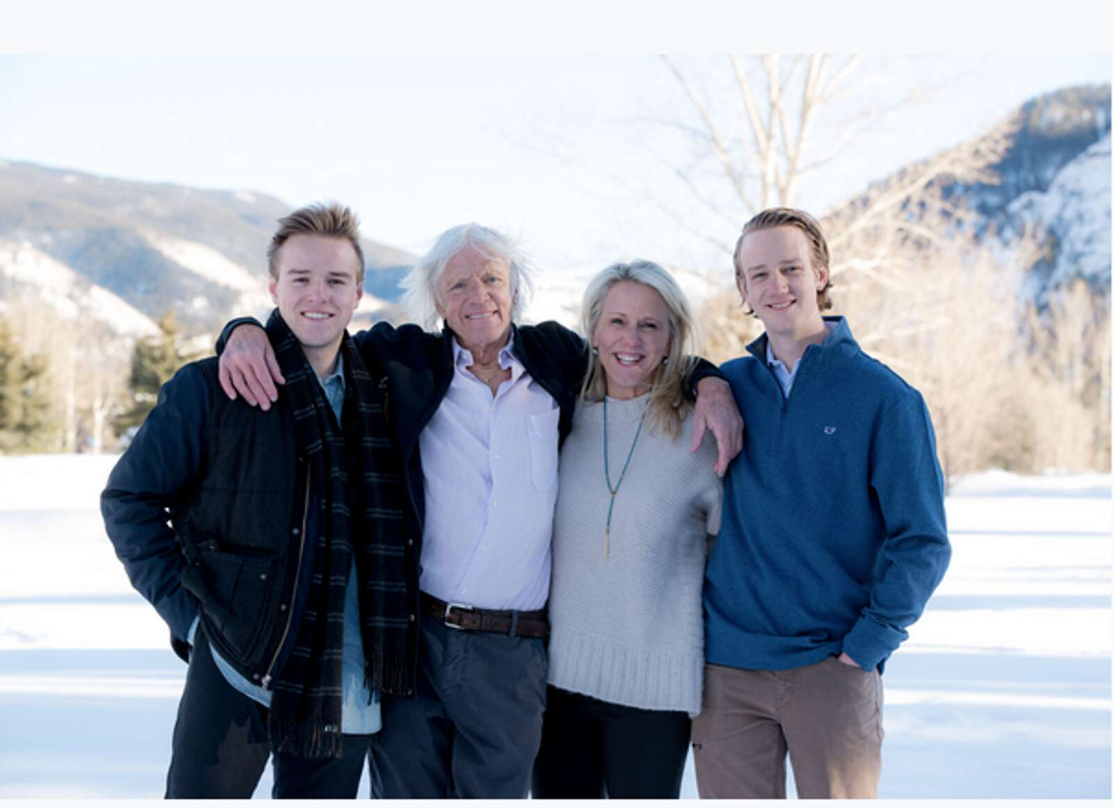 Art Daily with his wife, Allison, and their two sons, Burke and Rider. (Michele Cardamone/Special to The Aspen Times).