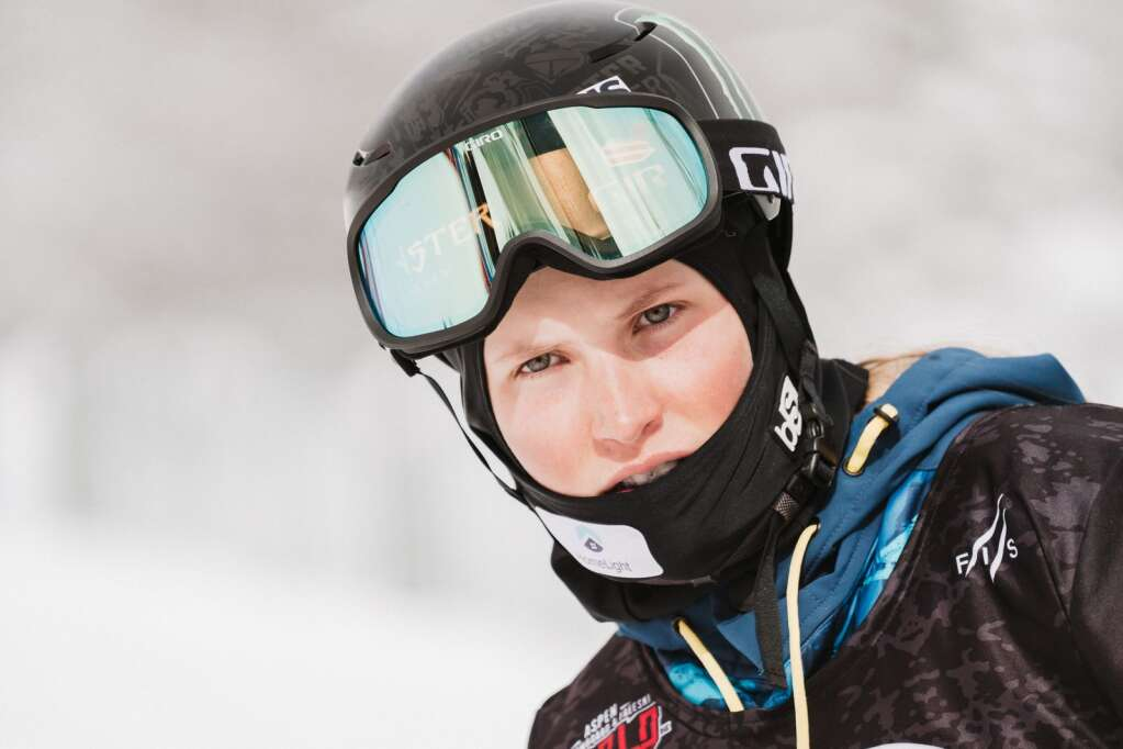 Hanna Faulhaber during the FIS World Championships at Buttermilk in Aspen on Wednesday, March 10, 2021. Faulhaber finished fifth in the women's half pipe qualifications and will compete in the finals on Friday. (Tamara Susa/Aspen Snowmass)