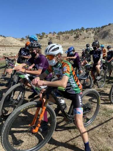 Summit Tiger sophomore Nico Konecny toes the start line at the Haymaker Classic in Eagle on Saturday, Sept. 25. | Nico Konecny/Courtesy photo