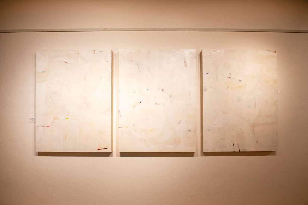 Pieces by artist Kristen Friebele are displayed in the Red Brick Center for the Arts show, Line and Form, in Aspen on Wednesday, June 2, 2021. (Kelsey Brunner/The Aspen Times)