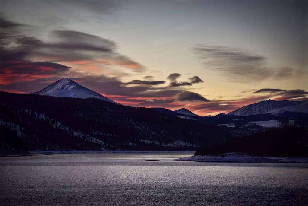 Amy Marie Dlubac enjoys getting out in nature for landscape photography, like this picture of a sunrise over Dillon Reservoir. She also shoots family portraits. | Photo by Amy Marie Dlubac