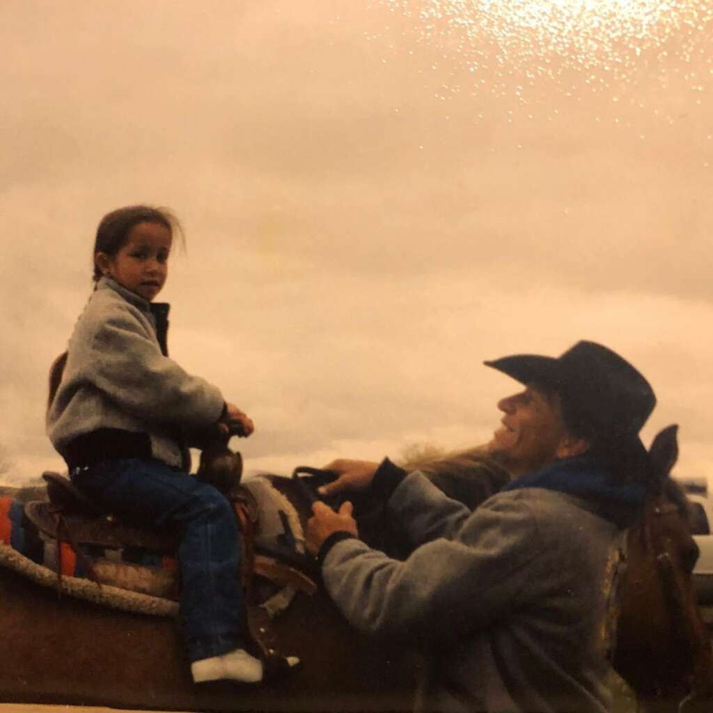 CL Johnson loved his little girl; they rode horses and ranched together, and every day he'd pick her up from school early so they could spend more time together. Photo courtesy Josey Johnson