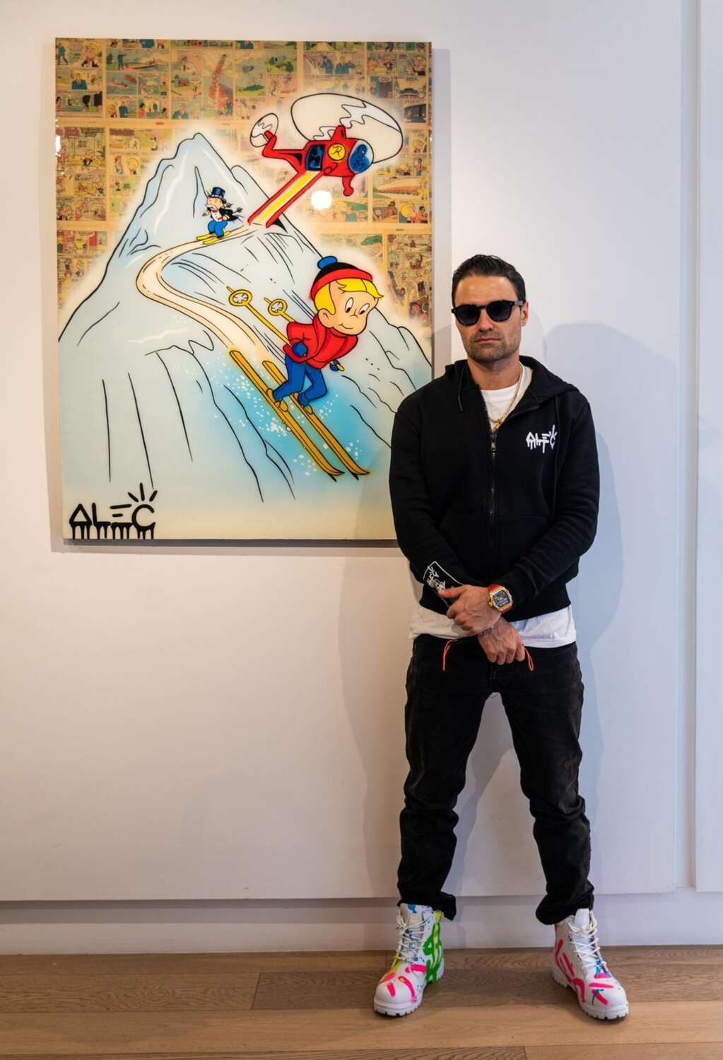 Alec Monopoly at Eden Gallery on Friday, Feb. 19. Courtesy Eden Gallery