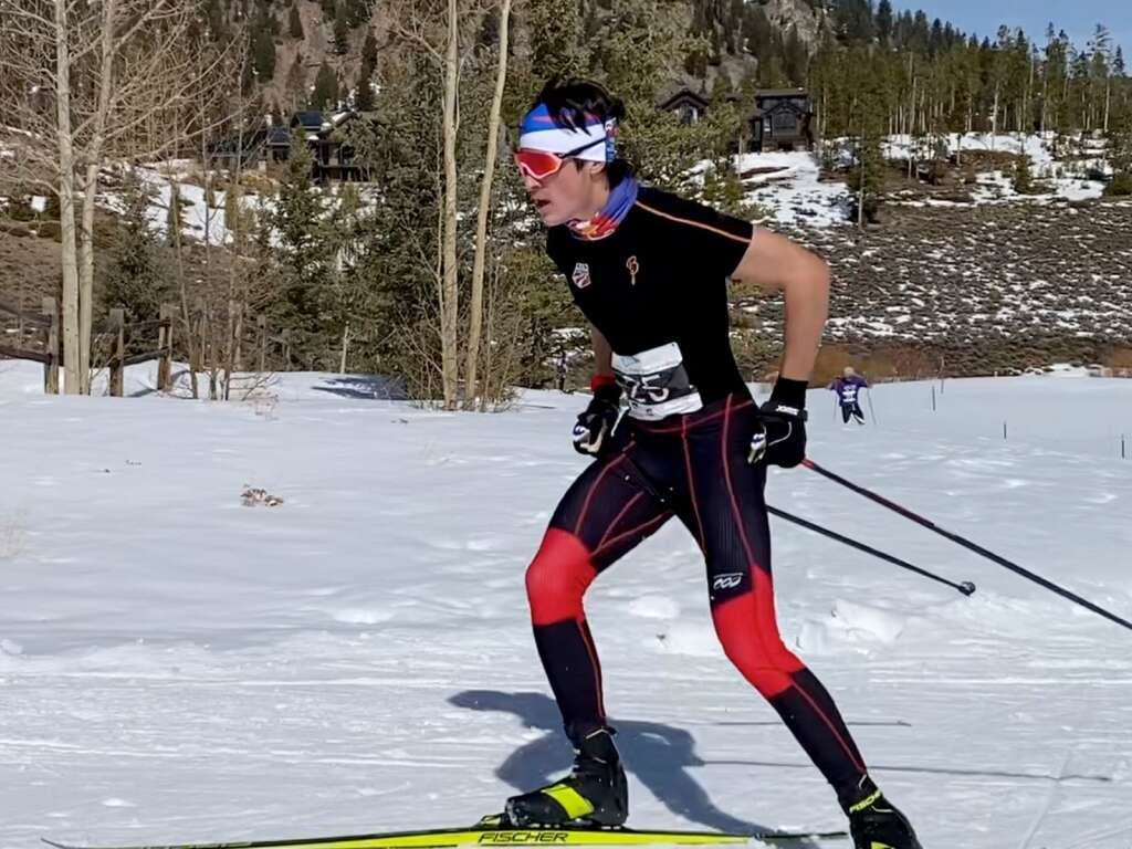 Aspen's Taiga Moore competes in the Nordic state championships on Saturday, March 6, 2021, at the Gold Run Nordic Center in Breckenridge. Courtesy photo.