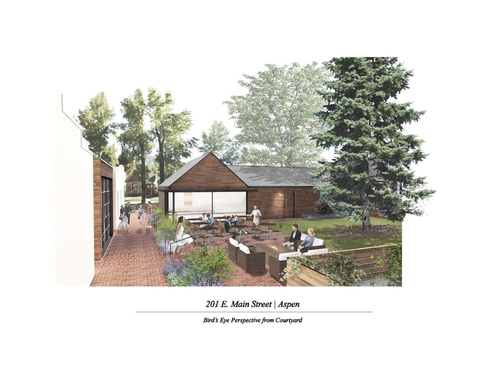 An architect's rendering of what the back of a newly developed Main Street Bakery will look like.