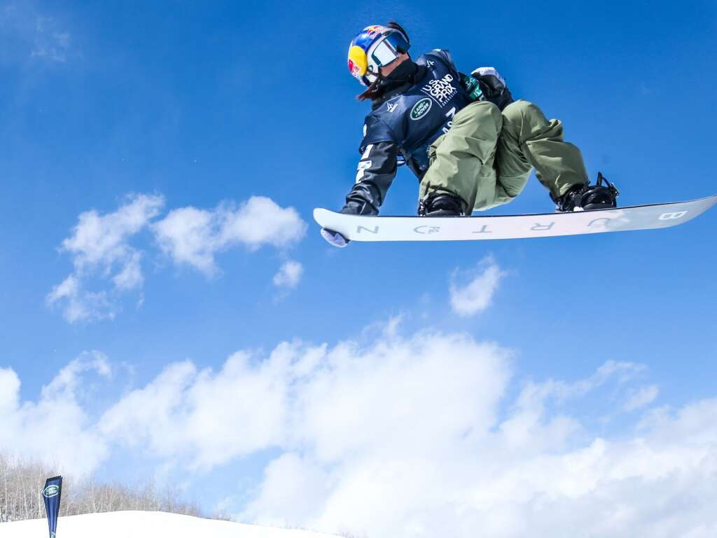 Japan's Mitsuki Ono competes in the women's snowboard halfpipe final of the U.S. Grand Prix and World Cup on Sunday, March 21, 2021, at Buttermilk Ski Area in Aspen, Colo. Photo by Austin Colbert/The Aspen Times.