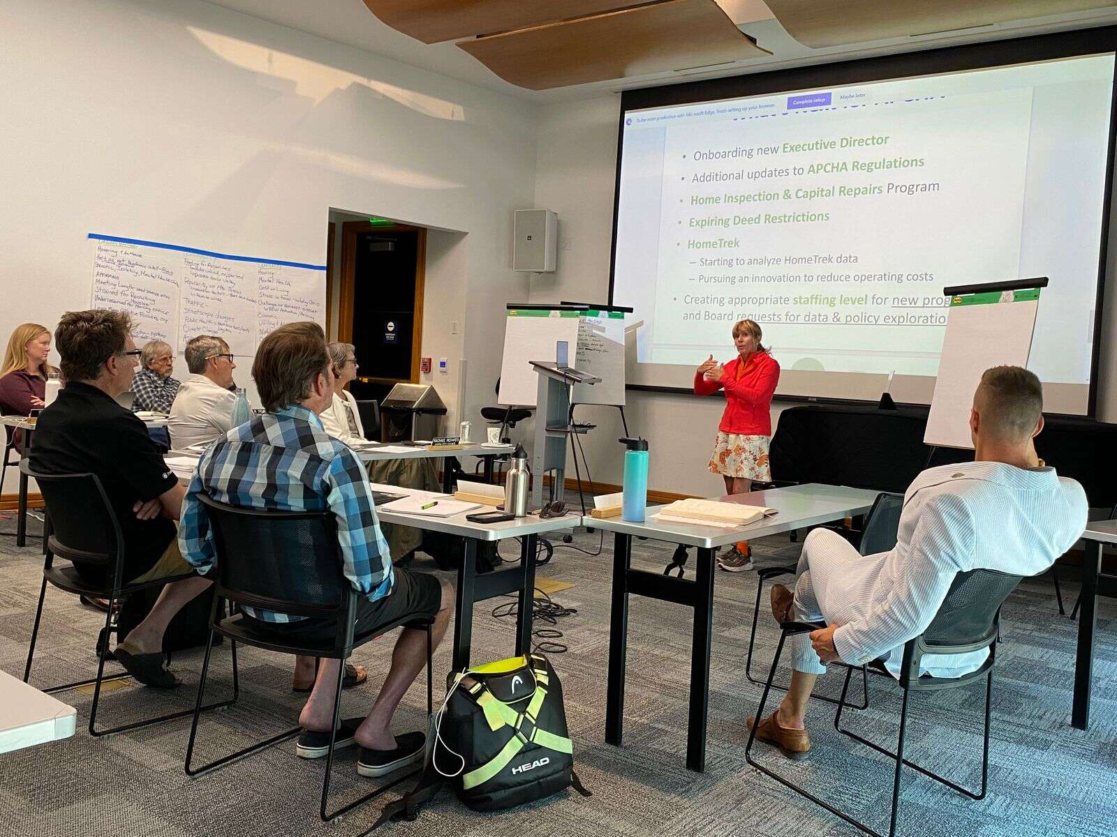Aspen Assistant City Manager Diane Foster addresses Aspen City Council during an all-day retreat on Tuesday.