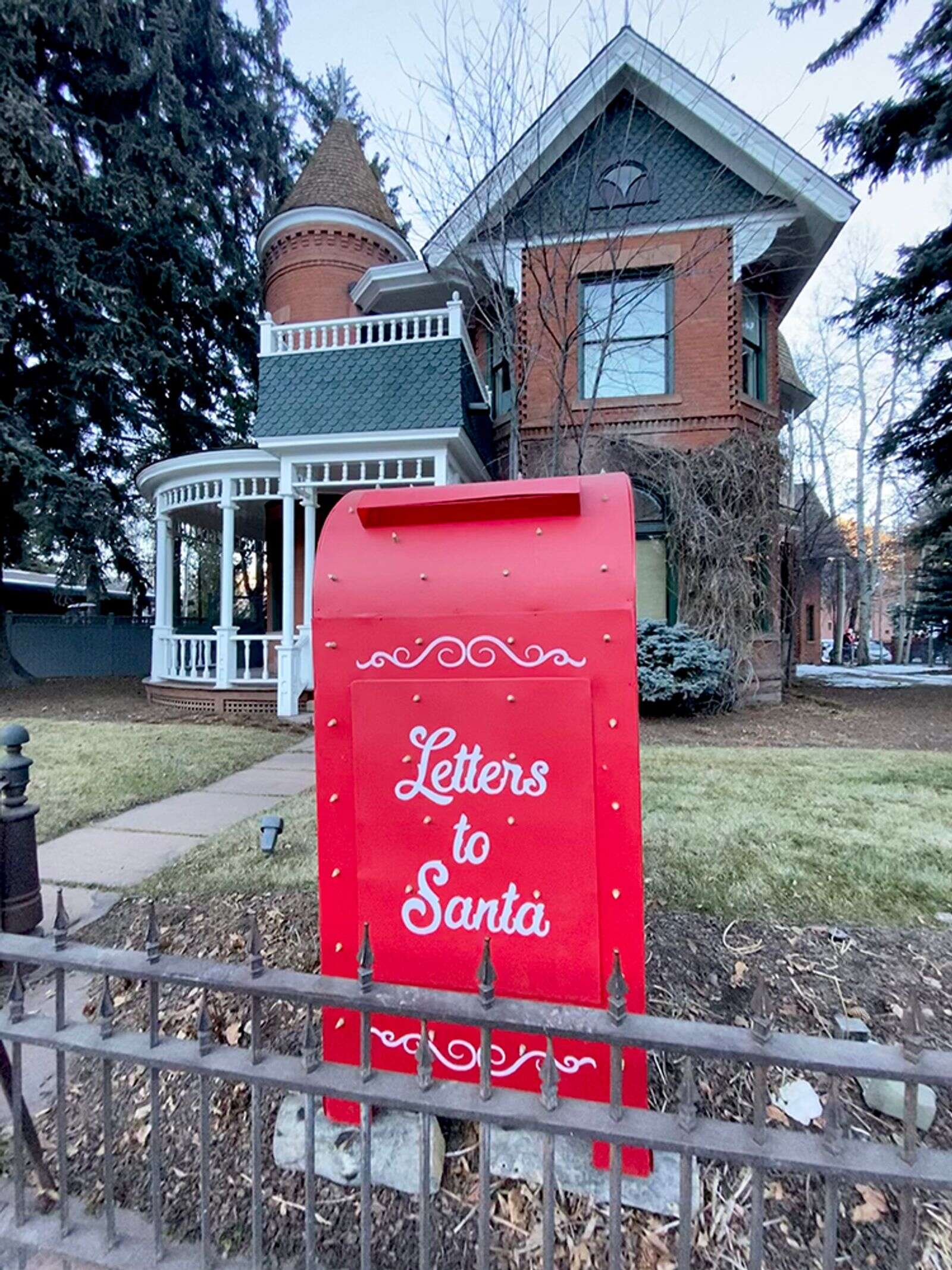 The Sardy House's larger-than-lifesize mailbox for letters to Santa.