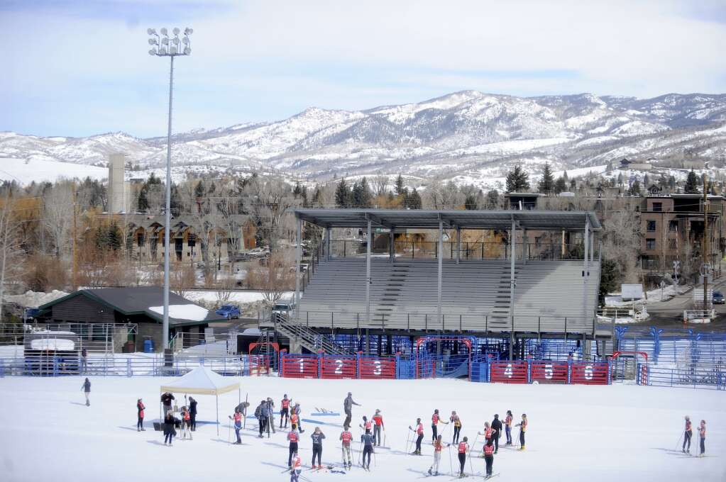The Nordic races at the state skimeister championships started and concluded at the rodeo ground at Howelsen Hill on Tuesday, March 9.