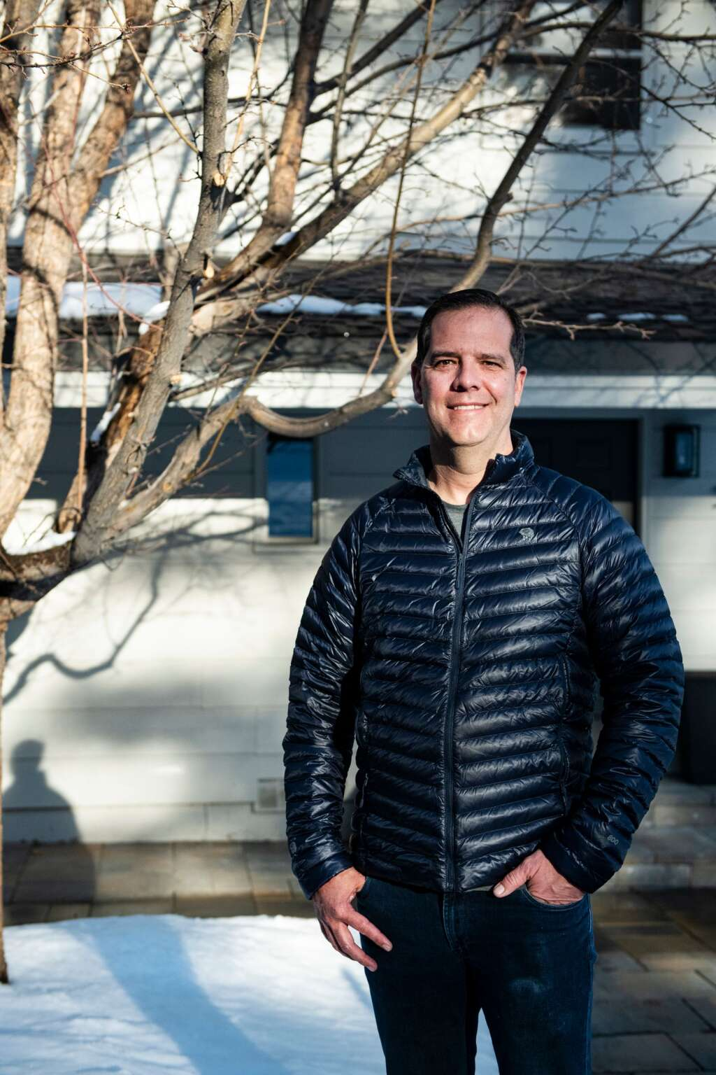 Dr. Greg Balko, emergency medicine physician and director of board at Aspen Valley Hospital, poses for a portrait outside of his home in Snowmass Village on Monday, Jan. 4, 2021. (Kelsey Brunner/The Aspen Times)