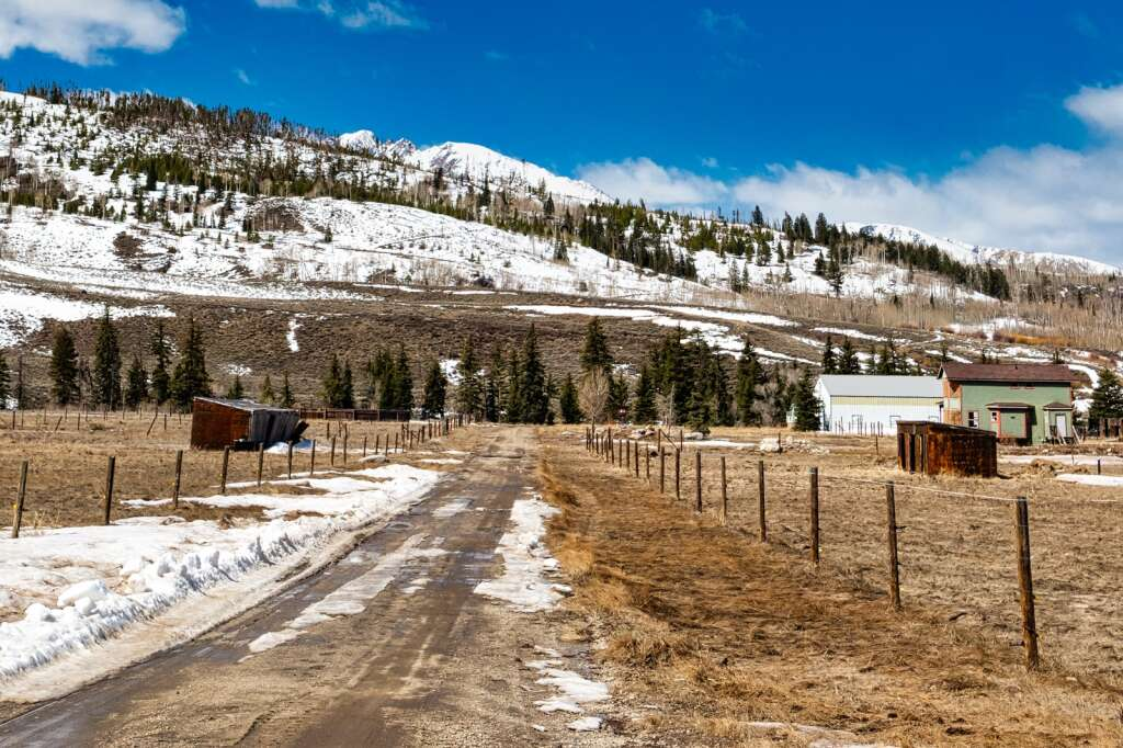 The Blue River Horse Center's new home at the 80-acre former Hillyard Ranch property at 35405 Highway 9, fifteen minutes north of Silverthorne, is seen on Friday, April 9, 2021. The horse center is able to use the property this summer for equestrian based emotional awareness and leadership training programs through a lease from Kilgore Companies, owner of Peak Materials.   Photo by Joel Wexler