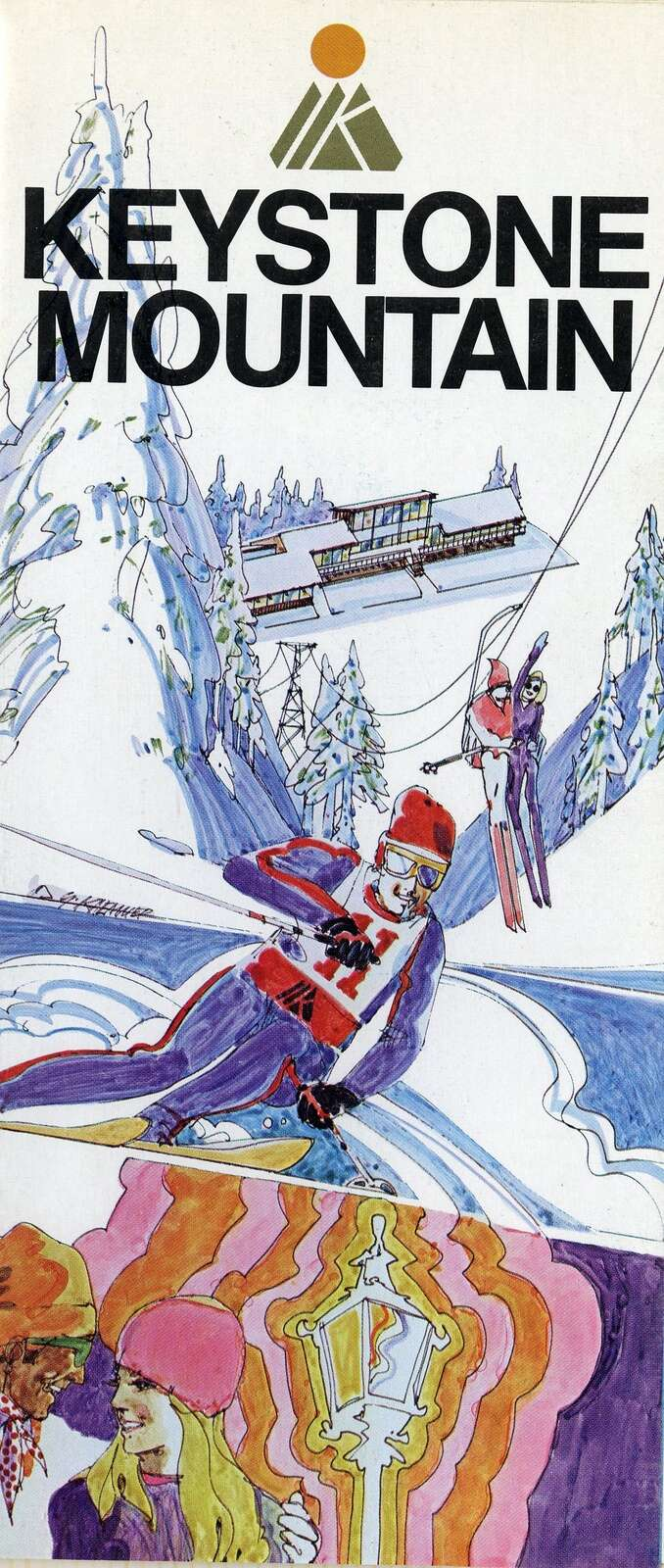 The original Keystone Mountain trail map skiers used to traverse the mountain. | Photo from the Bergman family