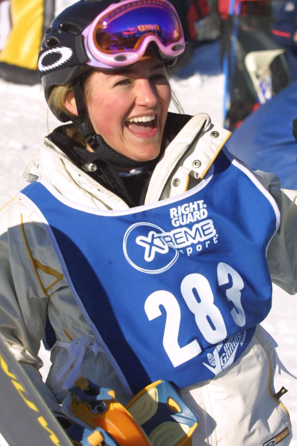 Gretchen Bleiler during Winter X Games VI in 2002, the first hosted by Aspen. Photo courtesy of ESPN.