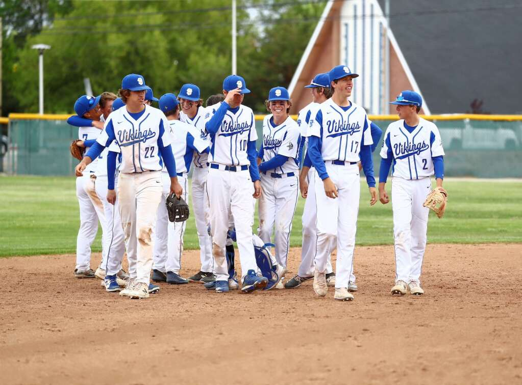 South Tahoe celebrates after the final out was recorded.