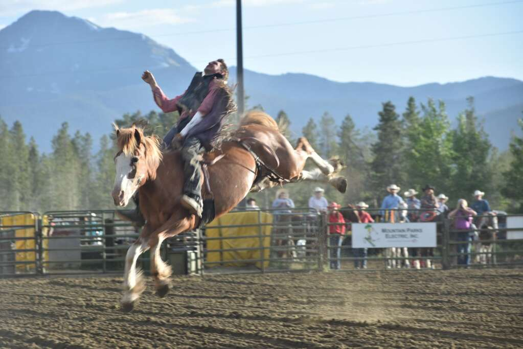 Ranch Bronc Riding is a traditional High Country Stampede event that is a crowd favorite. Four men competed Saturday night.